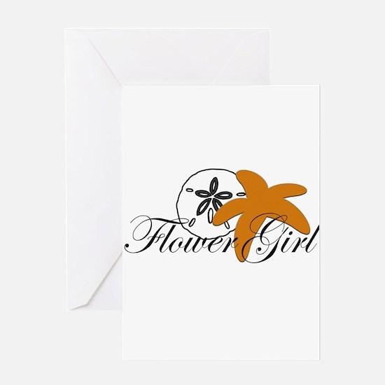 Sand Dollar Starfish Flower Girl.png Greeting Card