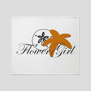 Sand Dollar Starfish Flower Girl Stadium Blan