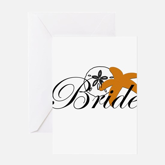 Sand Dollar Starfish Bride.png Greeting Card