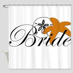 Sand Dollar Starfish Bride Shower Curtain