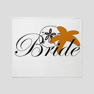 Sand Dollar Starfish Bride Throw Blanket