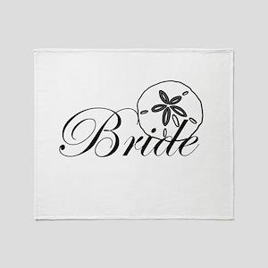 Sand Dollar Bride Throw Blanket
