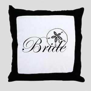 Sand Dollar Bride Throw Pillow