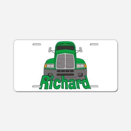 Trucker Richard Aluminum License Plate