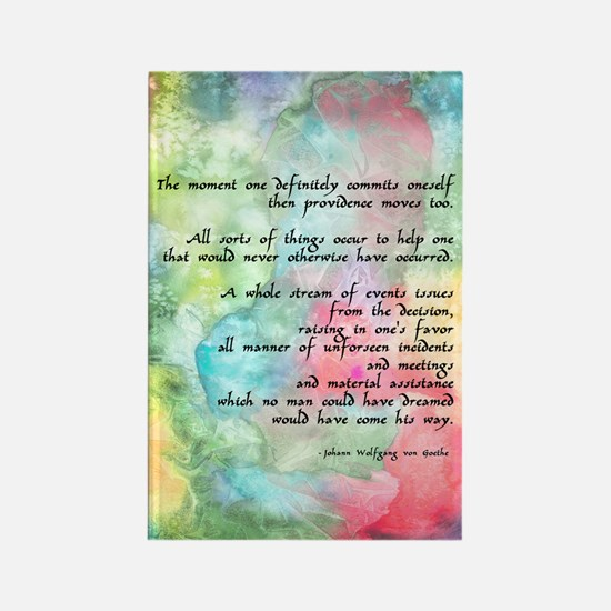 Inspirational Goethe Quote Rectangle Magnet