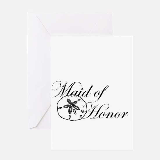 Sand Dollar Made of Honor.png Greeting Card