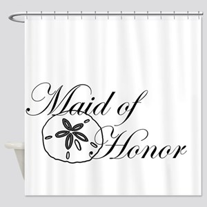 Sand Dollar Made of Honor Shower Curtain