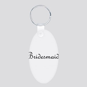Bridesmaid Aluminum Oval Keychain