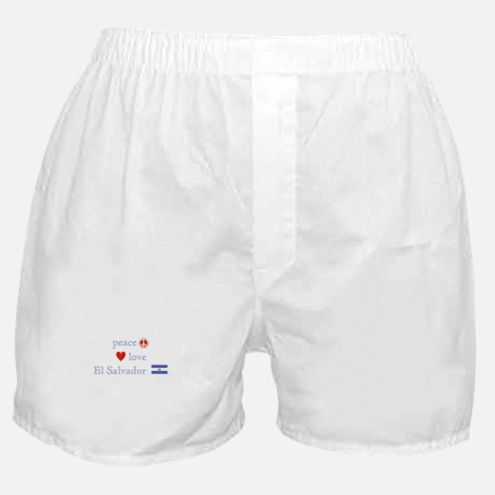 Peace, Love and El Salvador Boxer Shorts