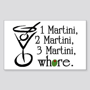 Martini Rectangle Sticker