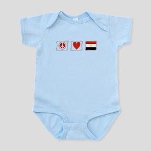 Peace, Love and Egypt Infant Bodysuit