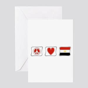 Peace, Love and Egypt Greeting Card