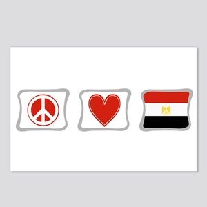 Peace, Love and Egypt Postcards (Package of 8)