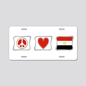 Peace, Love and Egypt Aluminum License Plate