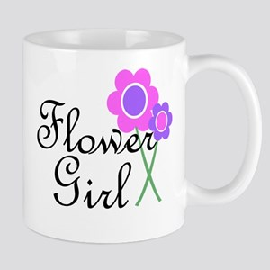 Purple Daisy Flower Girl Mug