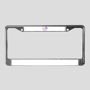 Purple Daisy Flower Girl License Plate Frame