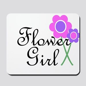 Purple Daisy Flower Girl Mousepad
