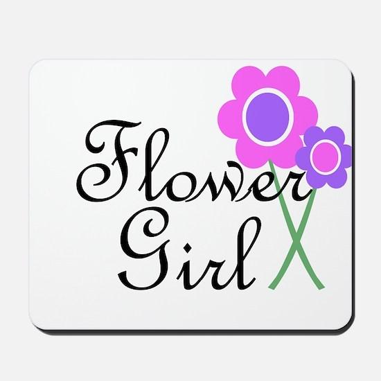 Purple Daisy Flower Girl.png Mousepad
