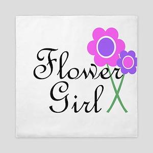 Purple Daisy Flower Girl Queen Duvet