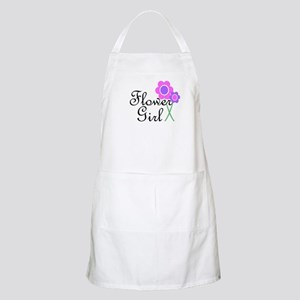Purple Daisy Flower Girl Apron