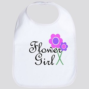 Purple Daisy Flower Girl Bib