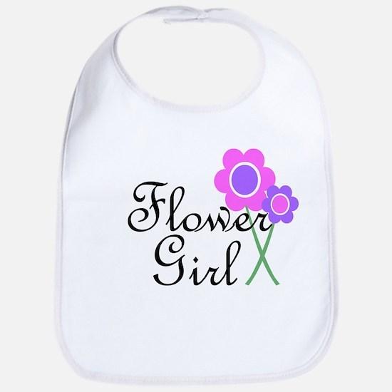 Purple Daisy Flower Girl.png Bib
