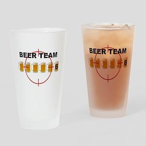 Beer Team 6 Logo Drinking Glass