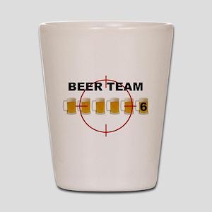 Beer Team 6 Logo Shot Glass
