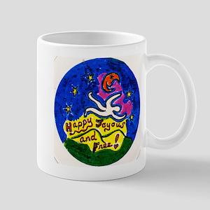 Happy Joyous and Free Button600dpi 1 Mug