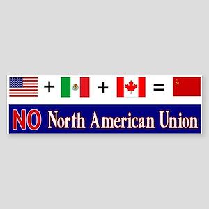 NO North American Union Bumper Sticker
