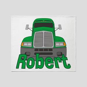 Trucker Robert Throw Blanket