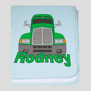 Trucker Rodney baby blanket