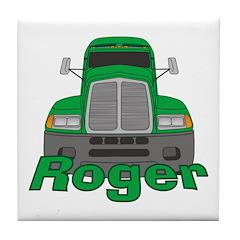 Trucker Roger Tile Coaster