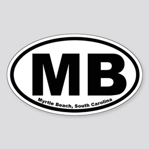 Myrtle Beach Oval Sticker