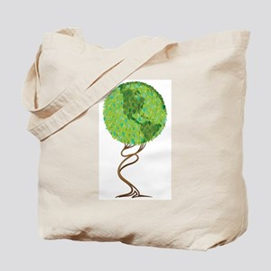 squiggle trunk earth tree Tote Bag