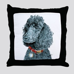 Black Poodle Whitney Throw Pillow