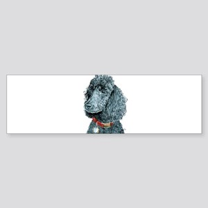 Black Poodle Whitney Sticker (Bumper)
