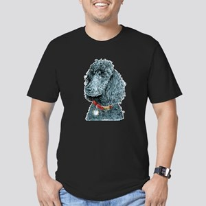 Black Poodle Whitney Men's Fitted T-Shirt (dark)