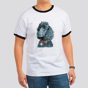 Black Poodle Whitney Ringer T