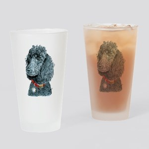 Black Poodle Whitney Drinking Glass