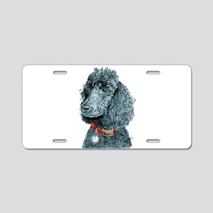 Black Poodle Whitney Aluminum License Plate