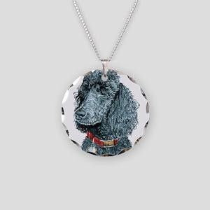 Black Poodle Whitney Necklace Circle Charm