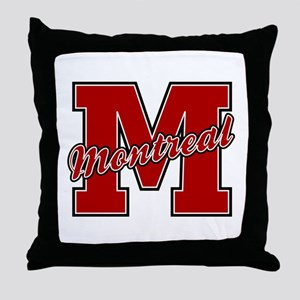 Montreal Letter Throw Pillow