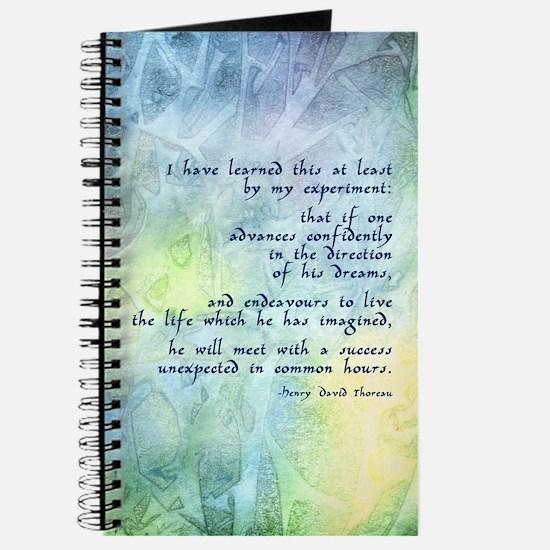Inspirational Thoreau Quote Journal