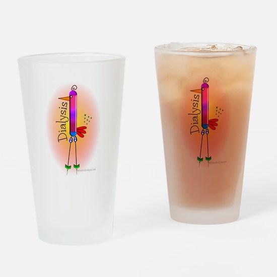 Dialysis Bird PINK.PNG Drinking Glass