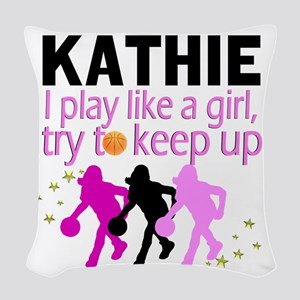 BEST BASKETBALL Woven Throw Pillow