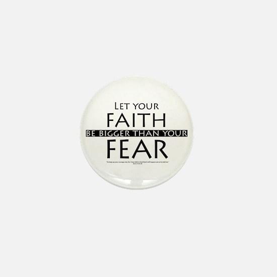 Faith and Fear Mini Button