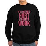 If it doesn't hurt Sweatshirt (dark)