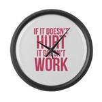 If it doesn't hurt Large Wall Clock