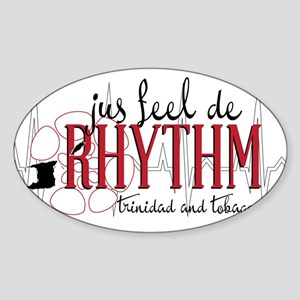 jus feel de RHYTHM Sticker (Oval)